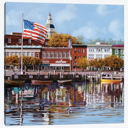 Annapolis Canvas Print #GUB10} by Guido Borelli Art Print