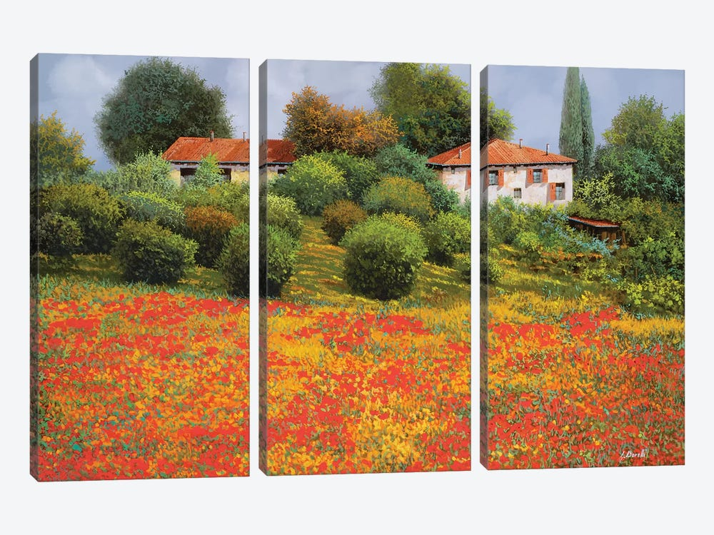 La Nuova Estate by Guido Borelli 3-piece Canvas Art Print