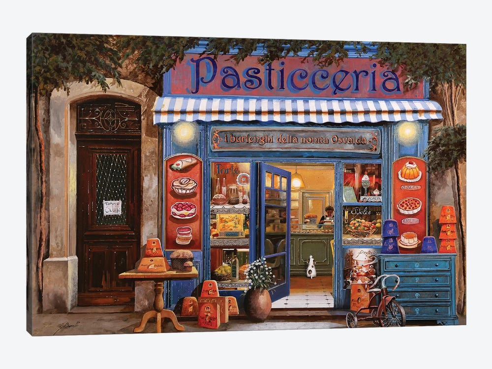 La Pasticceria by Guido Borelli 1-piece Canvas Art
