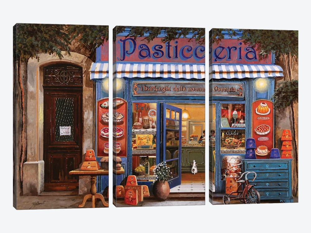 La Pasticceria by Guido Borelli 3-piece Canvas Wall Art