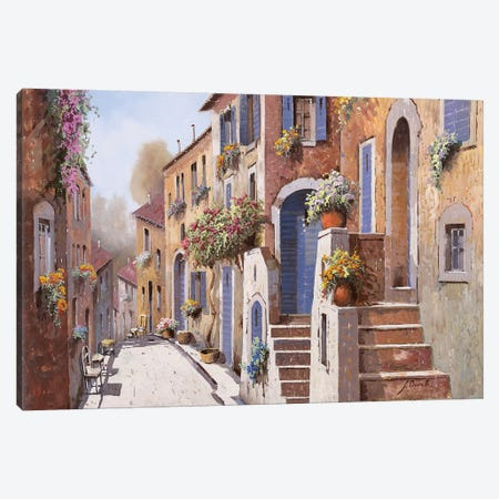 La Strada Al Sole Canvas Print #GUB115} by Guido Borelli Art Print