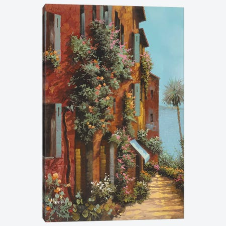 La Strada Verso Il Lago Canvas Print #GUB116} by Guido Borelli Canvas Art Print