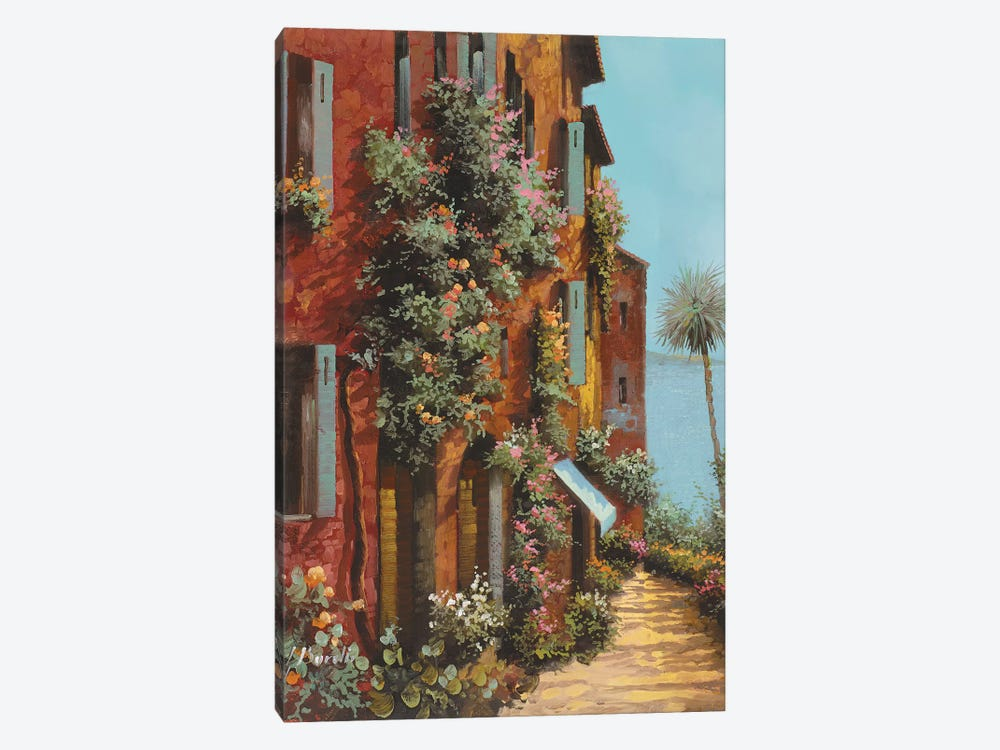La Strada Verso Il Lago by Guido Borelli 1-piece Canvas Art Print