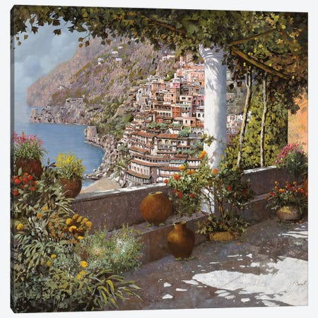La Terrazza A Positano Canvas Print #GUB119} by Guido Borelli Canvas Wall Art