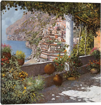 La Terrazza A Positano Canvas Art Print