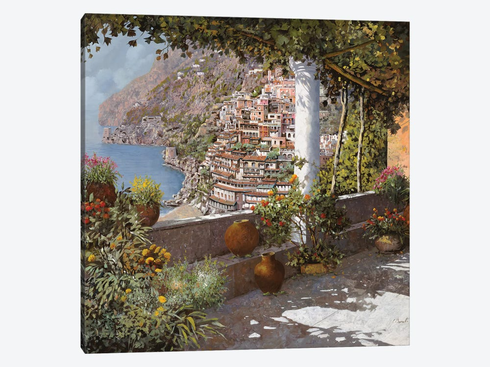 La Terrazza A Positano by Guido Borelli 1-piece Canvas Artwork