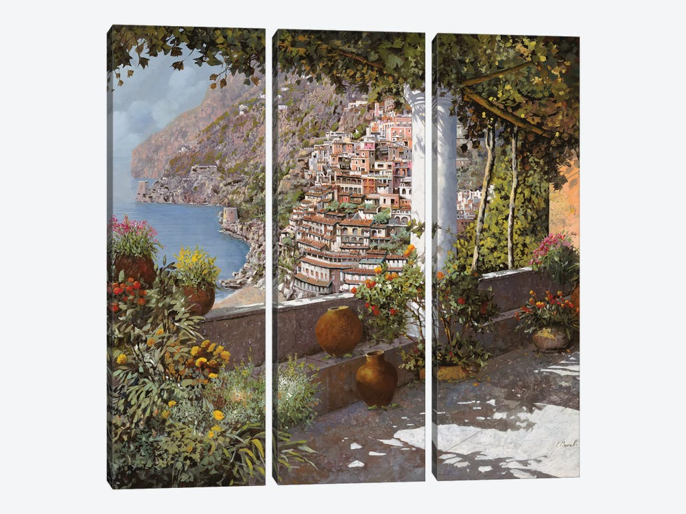 La Terrazza A Positano by Guido Borelli 3-piece Canvas Art