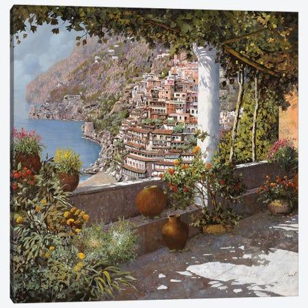 La Terrazza A Positano Canvas Print #GUB119} by Guido Borelli Canvas Wall Art