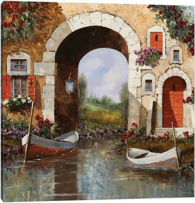 Le Barche Sotto L'Arco Canvas Art Print