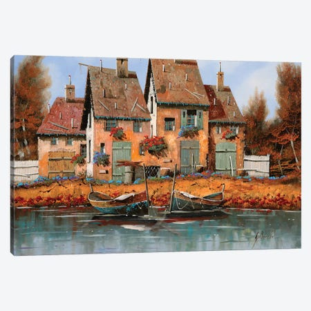 Le Belle Barche Canvas Print #GUB125} by Guido Borelli Canvas Art