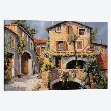 Le Casa E La Palma Canvas Print #GUB126} by Guido Borelli Canvas Wall Art