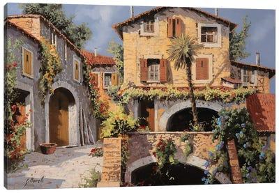 Le Casa E La Palma Canvas Art Print