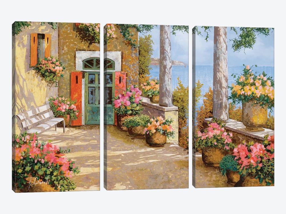Le Colonne Sulla Terrazza by Guido Borelli 3-piece Canvas Art Print