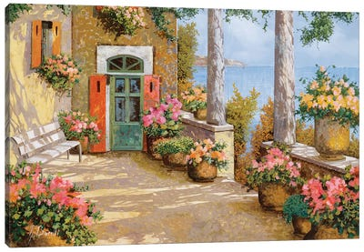 Le Colonne Sulla Terrazza Canvas Art Print