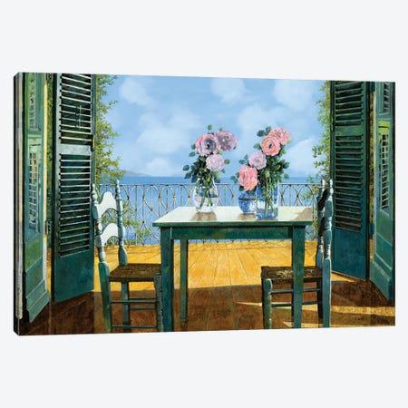 Le Rose E Il Balcone Canvas Print #GUB129} by Guido Borelli Canvas Print