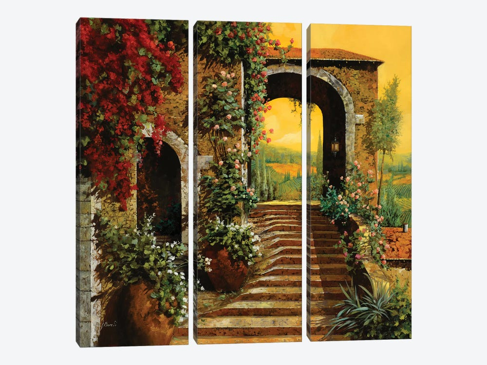 Le Scale by Guido Borelli 3-piece Canvas Art Print
