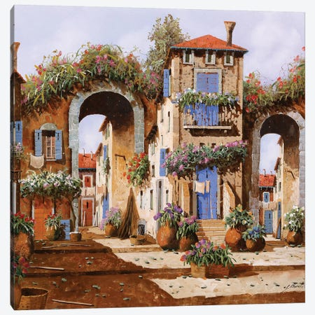 Arcate Nel Borgo Canvas Print #GUB13} by Guido Borelli Art Print