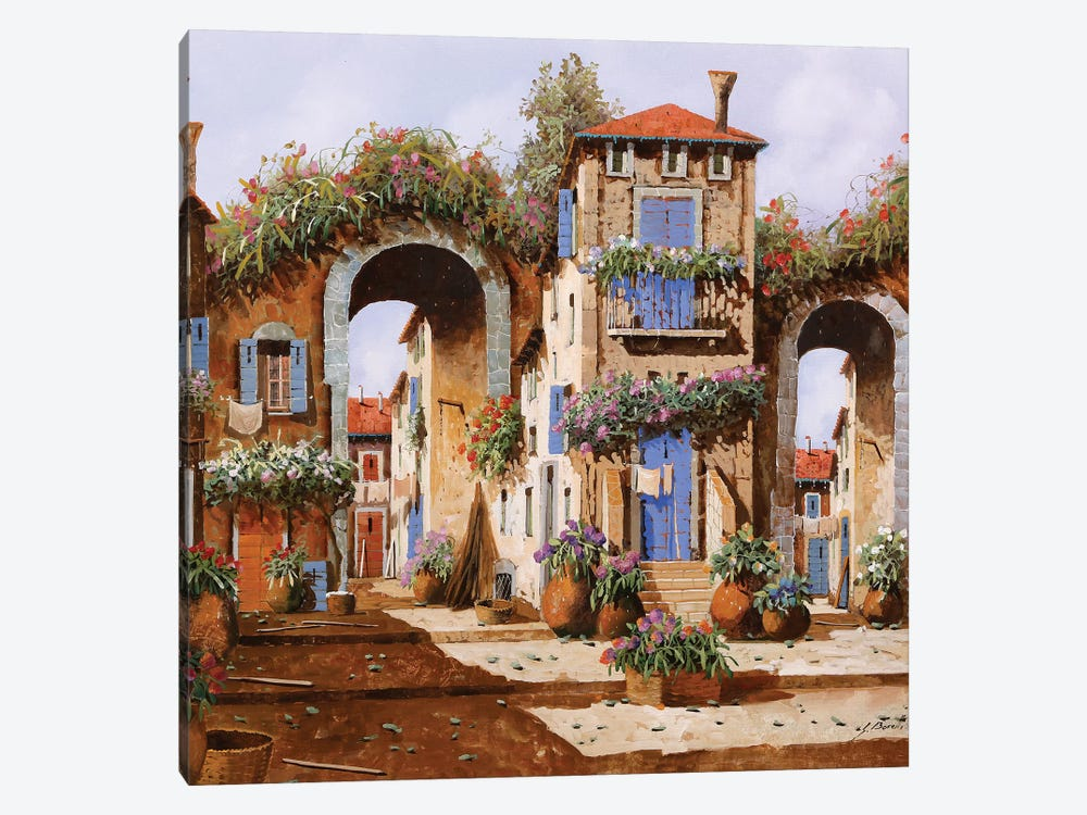 Arcate Nel Borgo by Guido Borelli 1-piece Canvas Wall Art