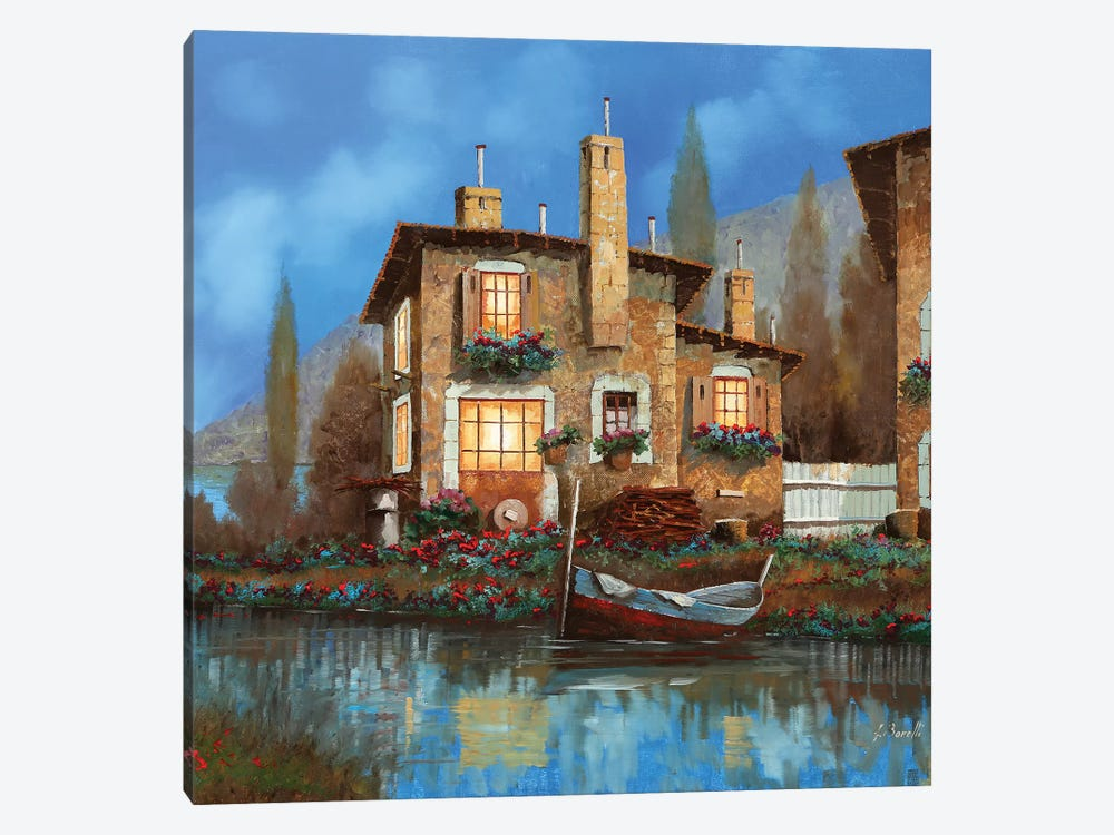 Luci Nel Blu by Guido Borelli 1-piece Canvas Wall Art
