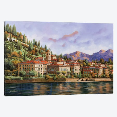 Lungolago Di Bellagio Canvas Print #GUB144} by Guido Borelli Canvas Wall Art