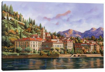 Lungolago Di Bellagio Canvas Art Print