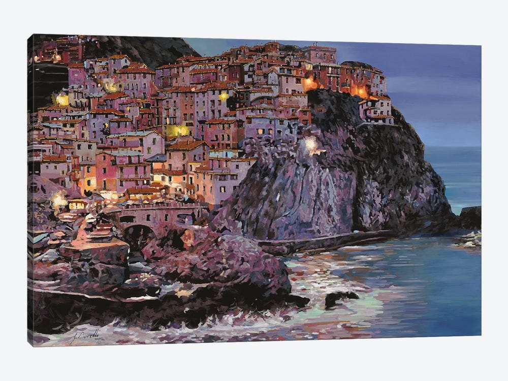 Manarola At Dusk by Guido Borelli 1-piece Canvas Print