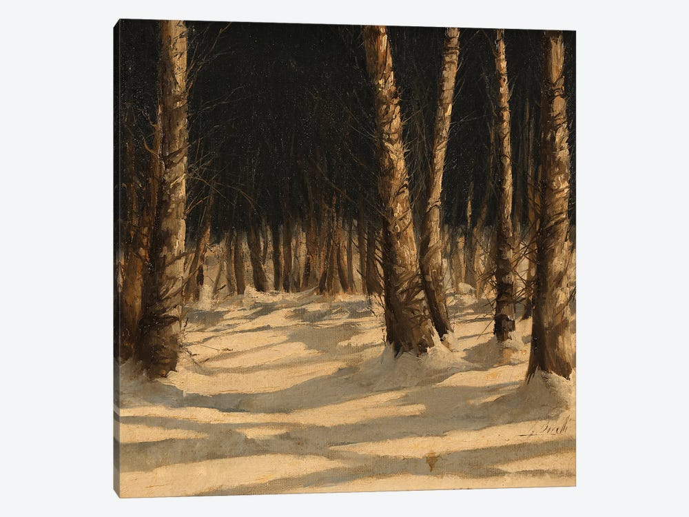 Neve Di Notte Nel Bosco by Guido Borelli 1-piece Canvas Art