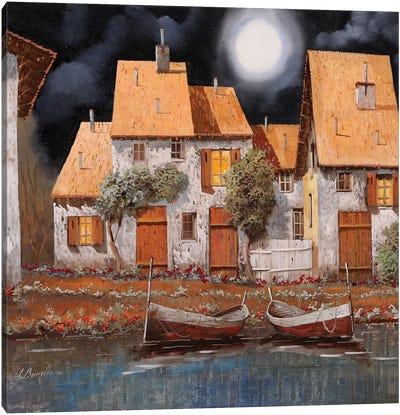 Notte Di Luna Piena Canvas Art Print