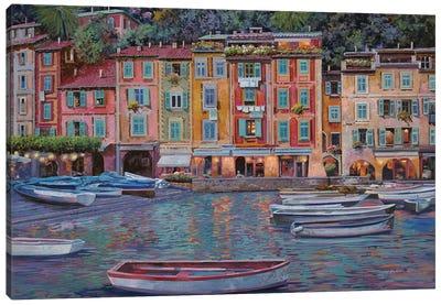 Portofino Al Crepuscolo Canvas Art Print