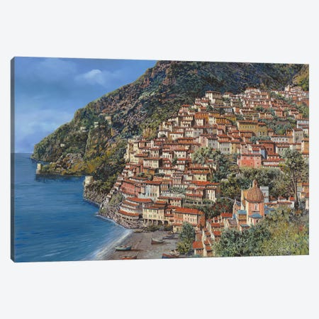 Positano E Torre Clavel Canvas Print #GUB174} by Guido Borelli Art Print