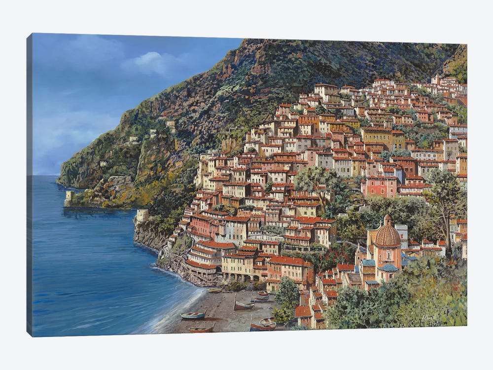 Positano E Torre Clavel by Guido Borelli 1-piece Canvas Print