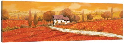 Rosso Papavero Canvas Art Print