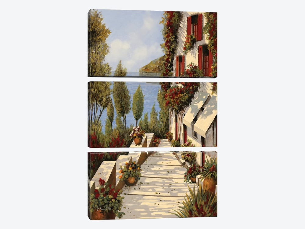 Rubino II by Guido Borelli 3-piece Canvas Art Print