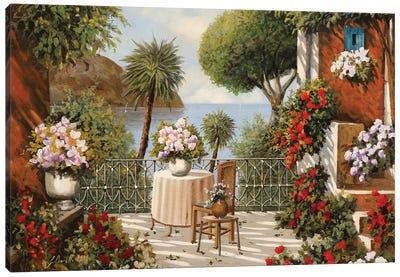 Sedia Terrazza E Sgabello Canvas Art Print