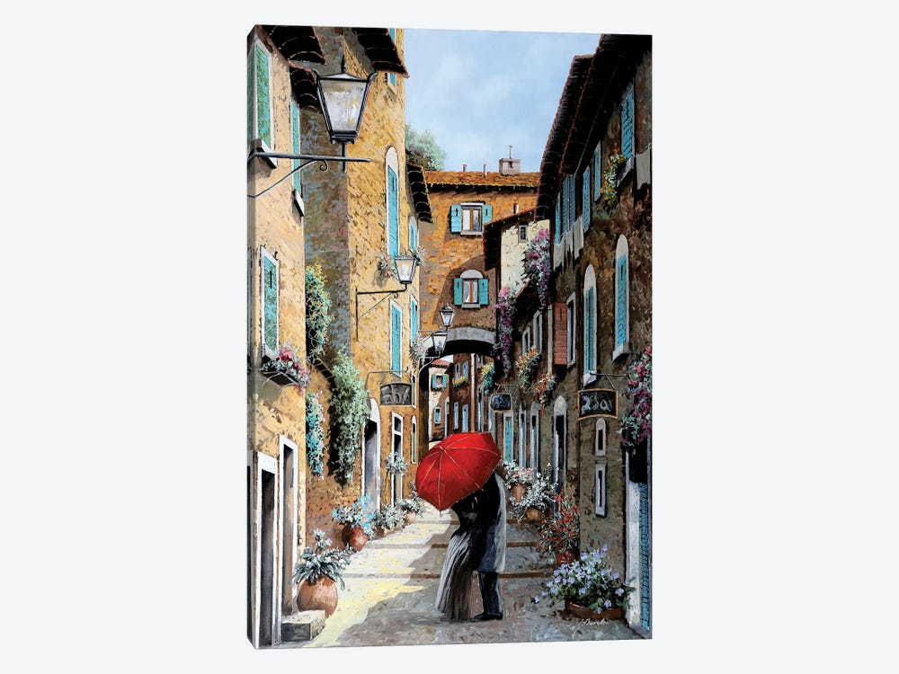 Baci Nel Vicolo by Guido Borelli 1-piece Canvas Art Print