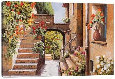 Stradina Di Cagnes Canvas Art Print