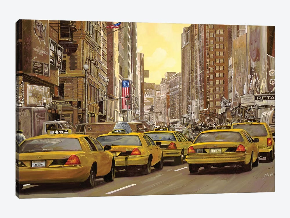 Taxi A New York by Guido Borelli 1-piece Canvas Wall Art