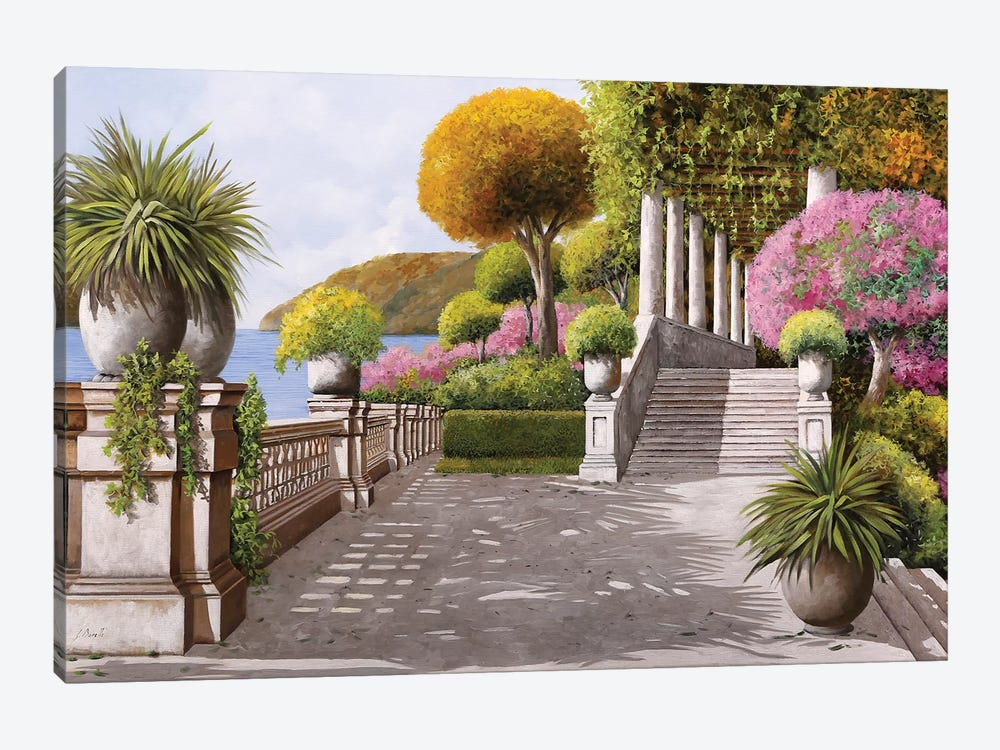 Terrace by Guido Borelli 1-piece Canvas Art