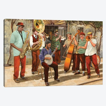 Un Po' Di Jazz Canvas Print #GUB205} by Guido Borelli Canvas Print
