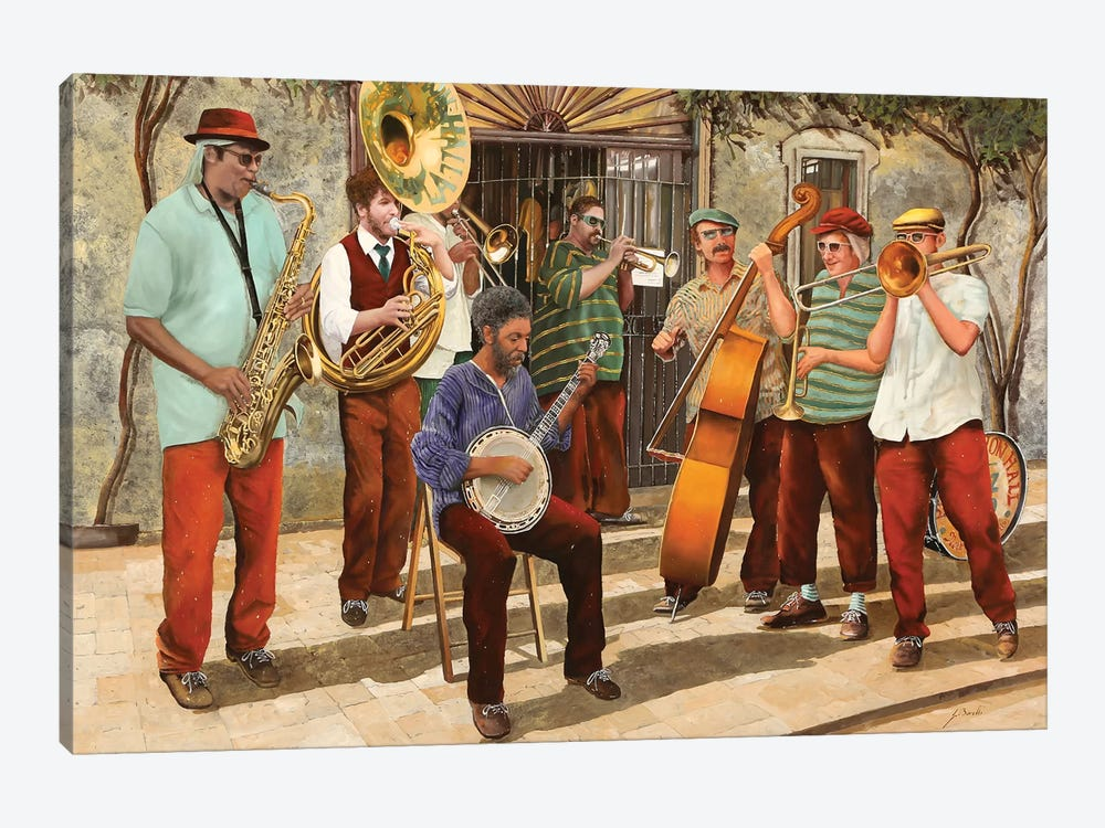 Un Po' Di Jazz by Guido Borelli 1-piece Canvas Art Print