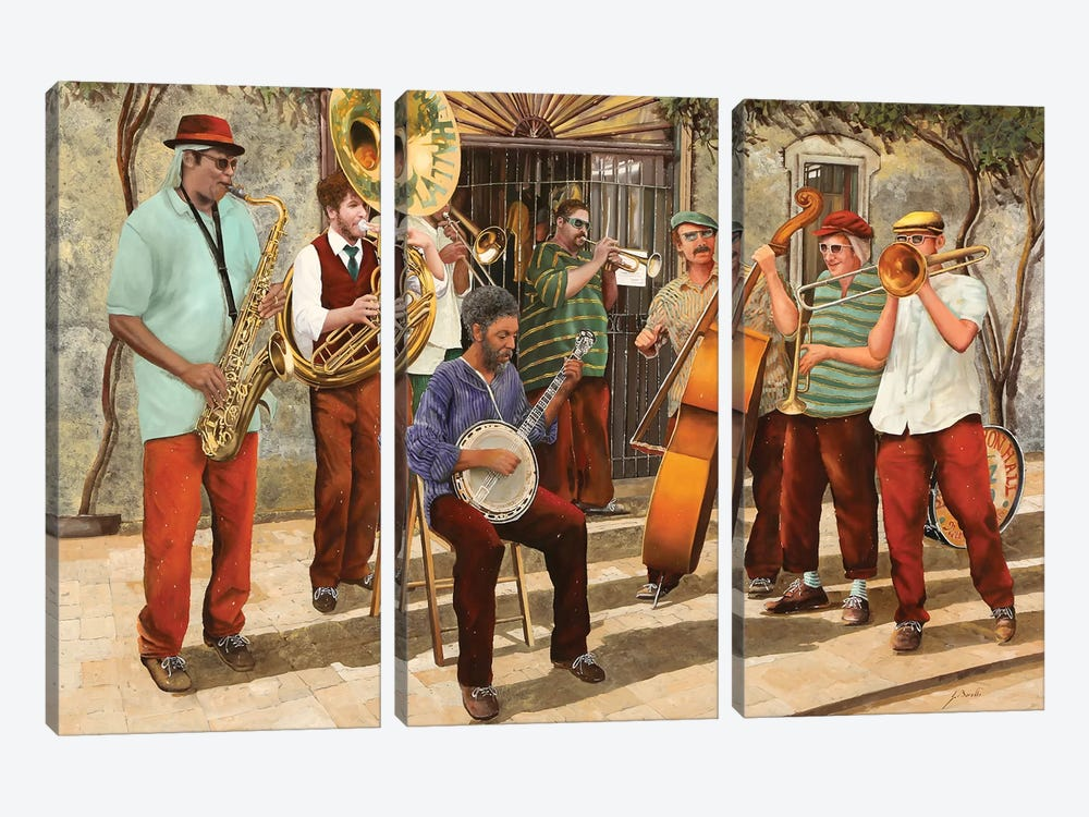 Un Po' Di Jazz by Guido Borelli 3-piece Art Print