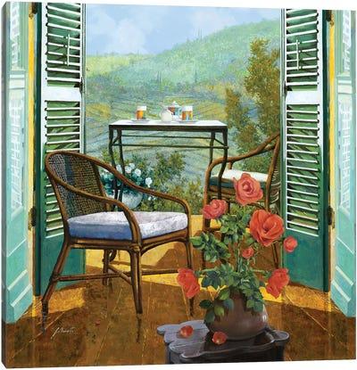 Un Vaso Di Rose Canvas Art Print