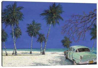 Una Macchina A Cuba Canvas Art Print