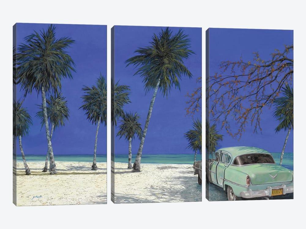 Una Macchina A Cuba by Guido Borelli 3-piece Canvas Art Print