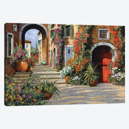 Un'Altra Porta Rossa Sulla Salita Canvas Print #GUB209} by Guido Borelli Canvas Wall Art