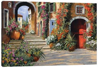 Un'Altra Porta Rossa Sulla Salita Canvas Art Print