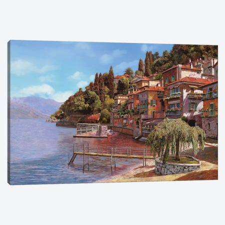 Varenna On Lake Como Canvas Print #GUB212} by Guido Borelli Canvas Print