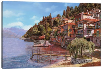 Varenna On Lake Como Canvas Art Print