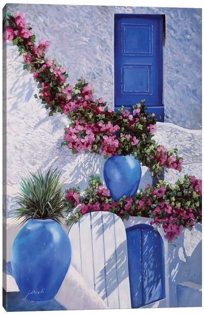 Vasi Blu Canvas Art Print