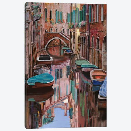Venezia A Colori Canvas Print #GUB215} by Guido Borelli Canvas Wall Art